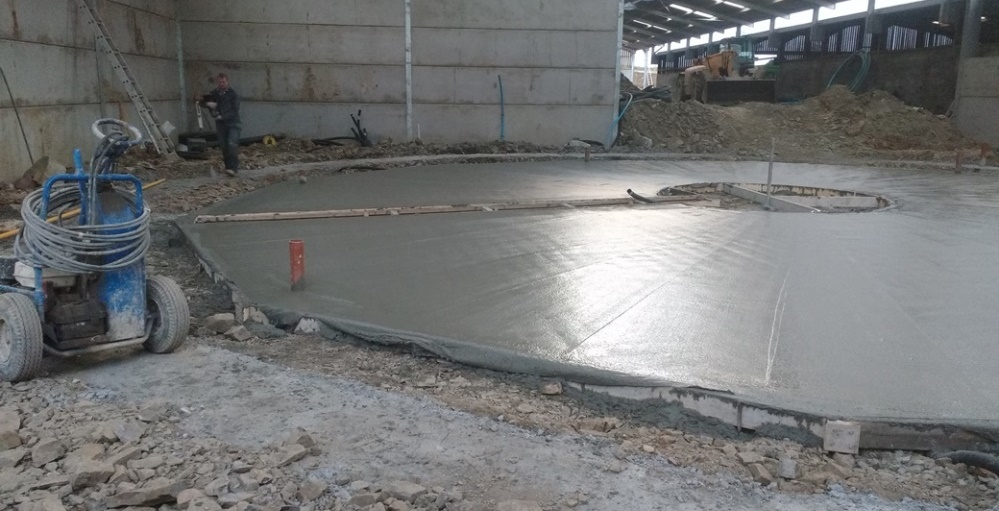 Foundations for rotary parlour